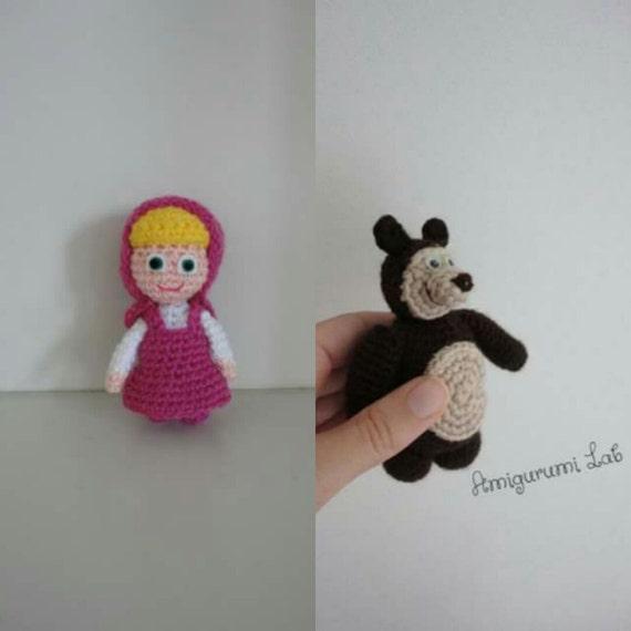 Orso Amigurumi Tutorial : Masha&Orso crochet amigurumi