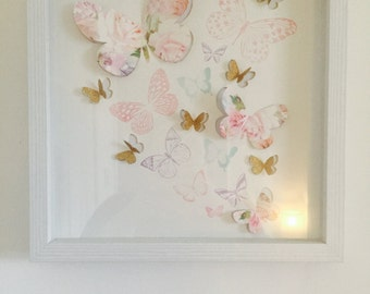 Handmade Floral Butterflies Picture