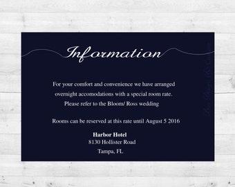 Modern elegant information card