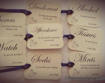 Gift tags for all the little gifts for your hubby to be.