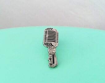 Vintage Microphone Enamel Pin