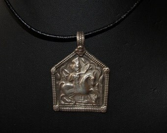 Silver rajasthani pendant