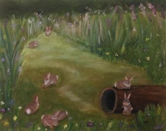 Bunny Garden Print
