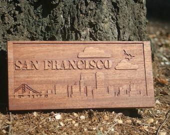 San Fransico Skyline 6x12 African Mahogany