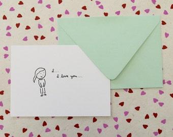 Little I Love You Card