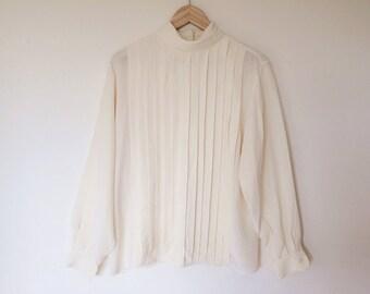 Vintage silk shirt/silk blouse/silk button down