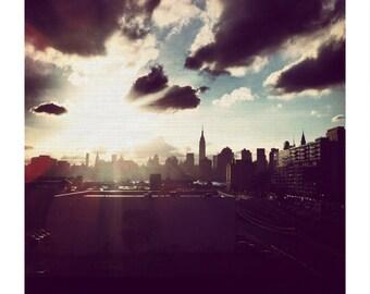 New York Print, NYC skyline, Skyline photo, Manhattan.