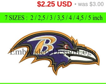 TODAY SALE 25% Baltimore Ravens  embroidery design - Instant Download - INSTANT download machine embroidery pattern