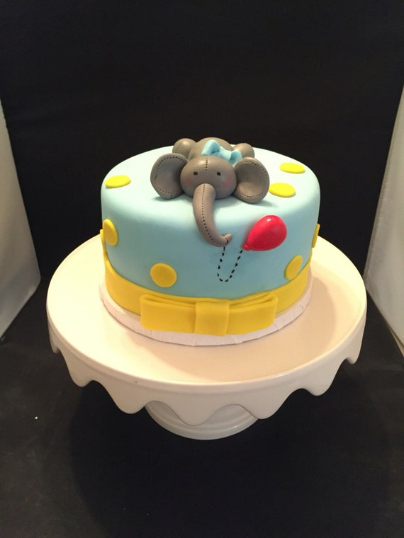 Edible Cake Images Elephant : Cute edible elephant cake topper perfect for baby shower