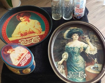 A collection of Vintage Pepsi items