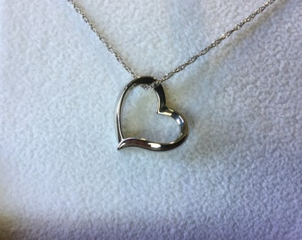 CLEARANCE-10K gold Heart Charm necklace