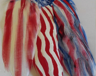 Flag feather painting
