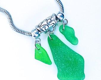 Seaglass necklace «Sovereign»