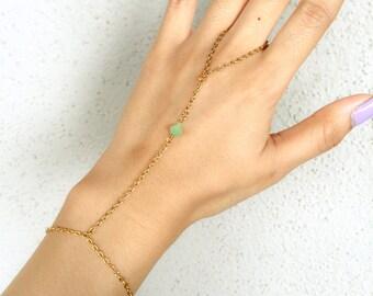Mint Gem Hand Chain Handlet