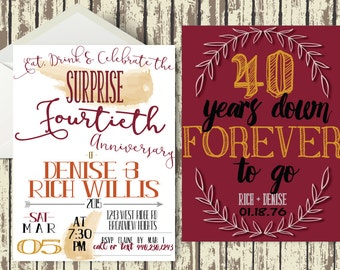 Rustic and Whimsical Surprise Anniversary Party