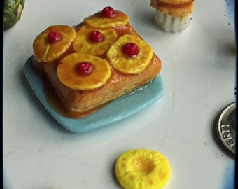 Polymer Miniature 1:12 Scale Pineapple Upside Down Cake