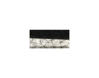 Rayher, silk Fiber: Modern, 30 cm, 25 m roll, black
