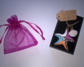 Crystal Pendant Necklace ''The Starfish''