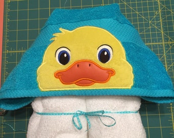 Yellow Ducky Hooded Towel