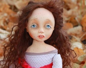 OOAK art doll-Art doll-OOAK doll-Collecting doll-Stuffed doll-Art doll-Doll handmade-doll plastic-doll paperclay-creative gift-decor-XLDOLLS