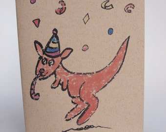 Greeting Card - Party Roo