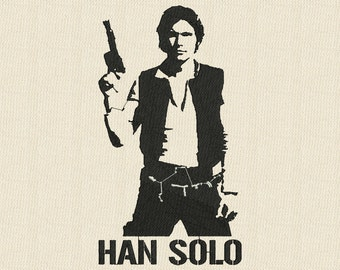 Star Wars Han Solo Fill Embroidery Design
