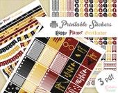 Harry Potter maison Gryffondor | Printable stickers  | 3 pdf | Téléchargement instantané | Planner, Happy planner