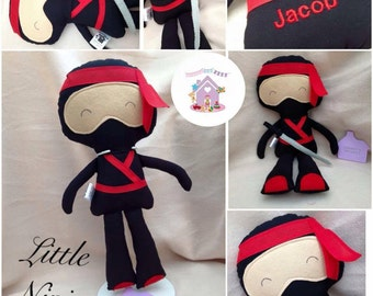 Made To Order Little Ninja Fabric Doll
