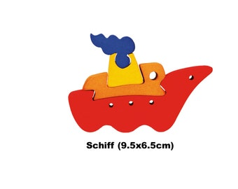 Mini Puzzle Ship/ Handmade / Wooden Toys / Vehicles / Transportation / Waldorf / Montessori