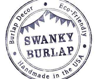 Swanky Burlap Print