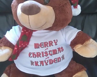 Large peronalized christmas berry bear