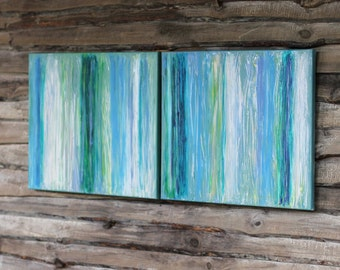 Original  Contemporary art Striped painting Canvas Painting Abstract Painting