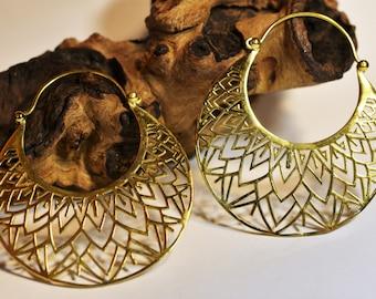 """Brass Earrings """"Maya Bird"""""""