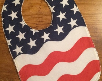 Stars and Stripes Bib, Red, White & Blue Baby Bib, Baby Shower Gift, July 4th Bib, Fourth of July Baby Bib, Patriotic Baby Bib, Independence