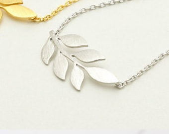 Leaf chain stainless steel leaf chain, necklace, chain, gift for women, necklace, stainless steel jewelry