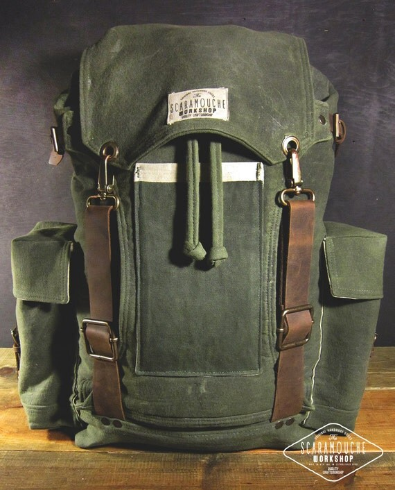 The Globetrotter Pack Waxed Canvas Backpack For Hiking