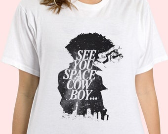 Cowboy Bebop Spike Spiegel Galaxy See You Space Cowboy Anime Inspired T-shirt. Male and Female Apparel