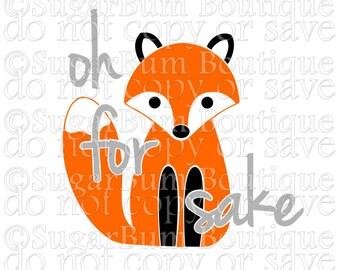 oh for fox sake svg