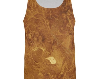 Solar System Planet Venus All Over Adult Tank Top