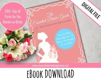 Printable Wedding Planner book, wedding planning tips & tricks, printable, PDF, A5, exclusive