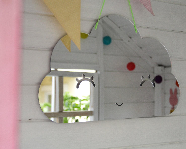 Cloud shape acrylic mirror for kids room nursery room safe for Kids room mirror