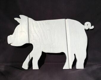 Piggy Wood Cutout