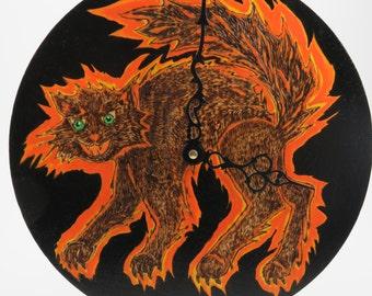 Scardy Cat Clock
