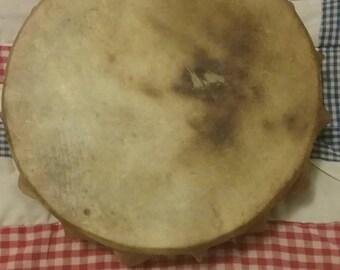 Native American Style Deer Skin Hand Drum