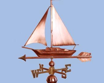 Copper Sailboat Weathervane BH-WS-473