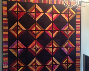Lap Quilt, Wall Hanging, Patchwork Quilt