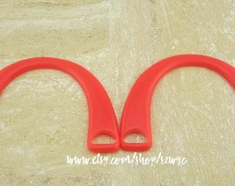 Red Acrylic Bag Handle 16.3cm x 11cm