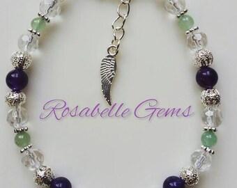 Eczema, Healing Bracelet, Natural Healing, Crystals, Eczema Bracelet, Heal Eczema, Handmade, Healing Jewelry, Skin Problems, Gift For Her
