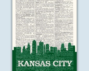 Kansas City Skyline, Kansas City Poster, Kansas City Decor, Kansas City Print, Kansas City Wall Art, Kansas City Gift, Kansas City Missouri
