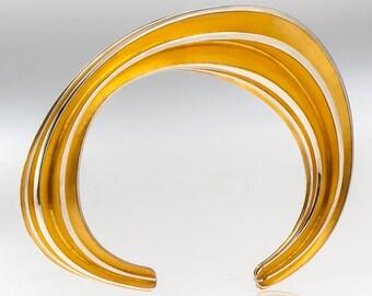 Series One Unique Golden Silver Cuff Bracelet